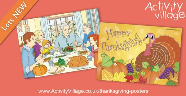Colourful new Thanksgiving posters
