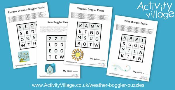 New weather themed boggler puzzles