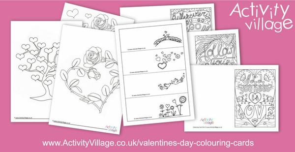 Adding to our collection of Valentine's Day colouring pages and Valentine's day colouring cards