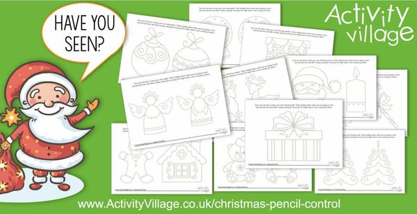 Have you seen our Christmas pencil control pages?