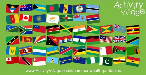 Updated our Commonwealth flag printables