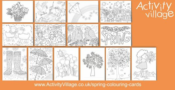 Adding to our collection of spring colouring cards