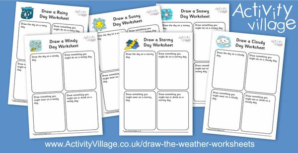 New Draw the Weather worksheets