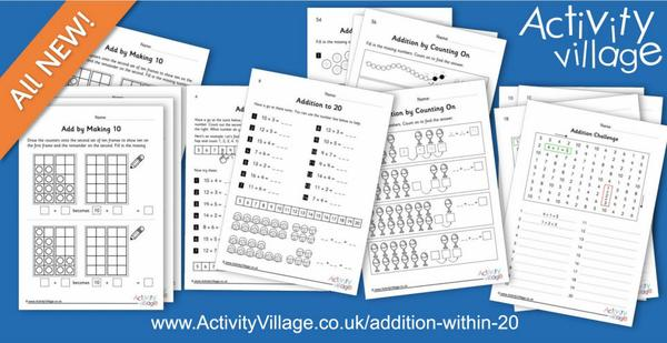 All sorts of fun new worksheets for Addition Within 20