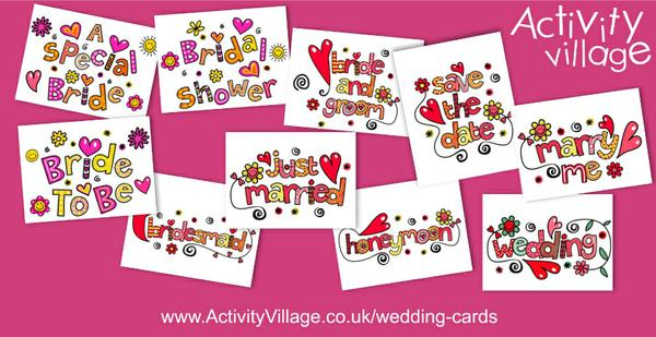 Lovely new printable wedding cards added