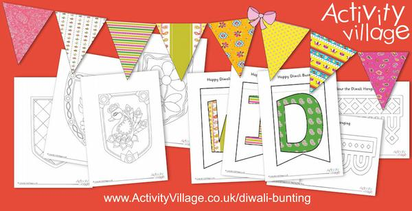 Decorate with our new Diwali bunting printables