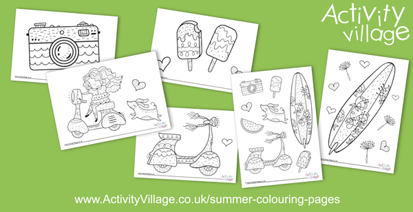 We've been topping up our summer themed colouring pages with these lovely new additions