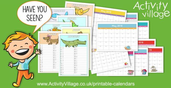 Have you seen our printable calendars? We have two versions available for planning next year.