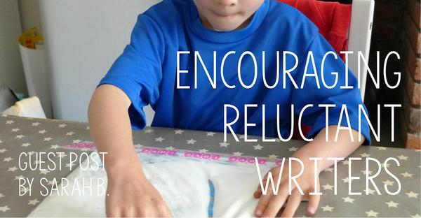 Guest Post - Encouraging Reluctant Writers
