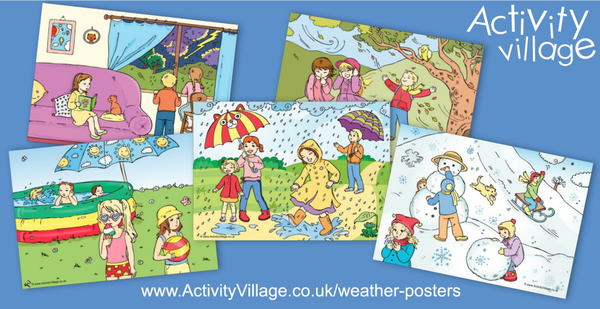 Lots to spot on our new weather posters