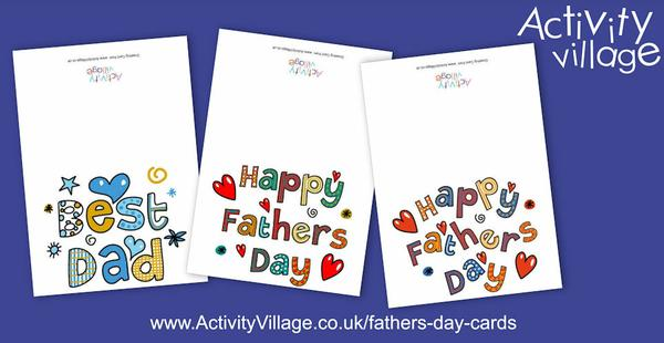 Three fun new Father's Day cards to print for Sundy