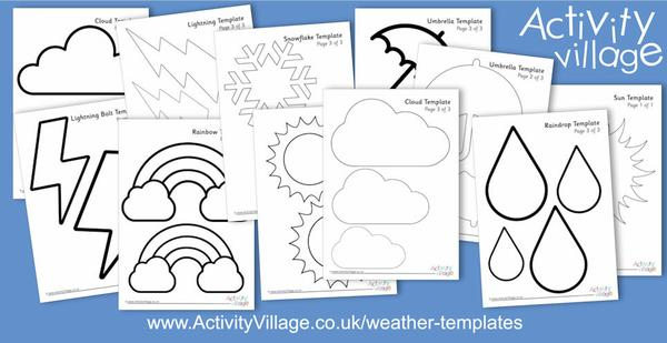 A new collection of weather templates for displays and crafts