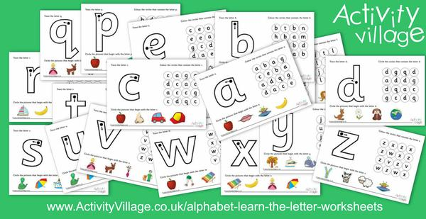 "New alphabet ""learn the letter"" worksheets"