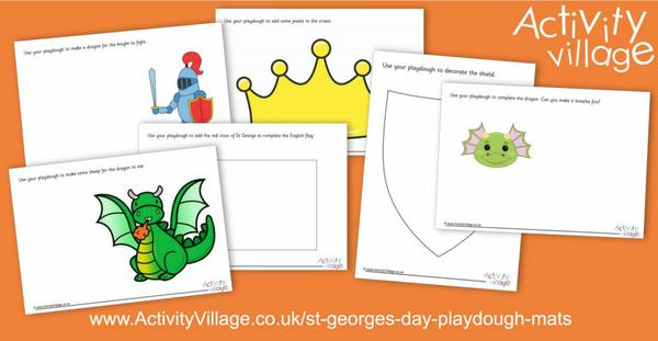 Have some fun with these St George's Day playdough mats