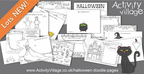 Spark imagination with these fun Halloween doodle pages!