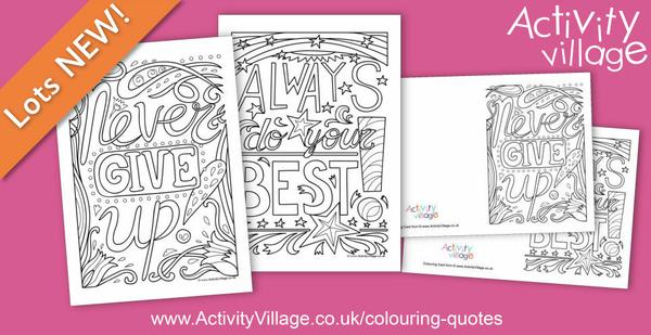 2 new colouring quote designs to enjoy