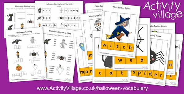 Learn Halloween spellings and vocab with these lovely new jigsaws and worksheets