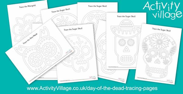 New Day of the Dead tracing pages