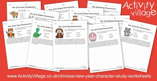 Try something new with these Chinese New Year character study worksheets!