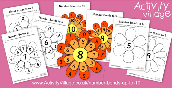 Practise number bonds with flowers!