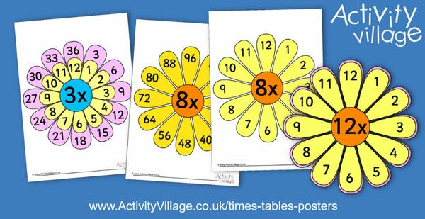 And we've added these new flower-themed times tables posters to brighten your day, with a self-checking option