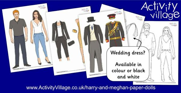 Introducing our Harry and Meghan paper dolls!