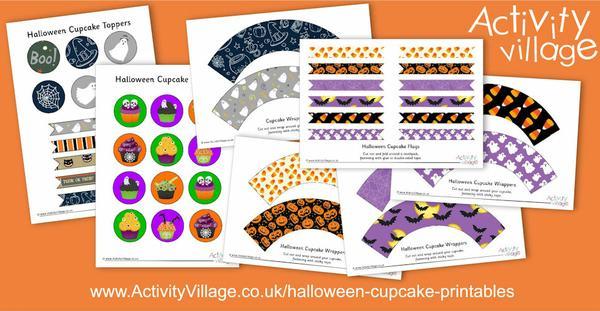New Halloween cupcake printables