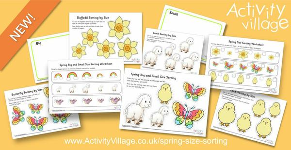 New spring size sorting activities