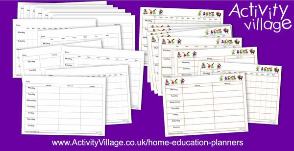 New home education planners and schedules