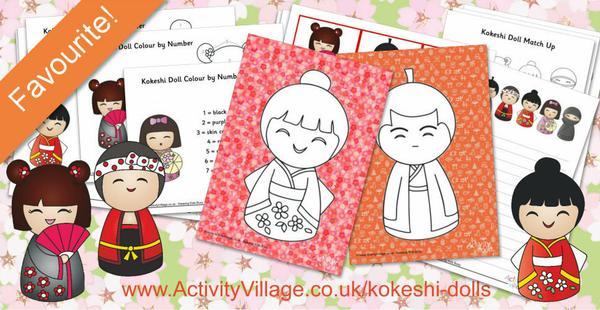 Extra cute Kokeshi Doll activities!