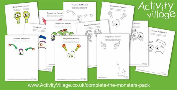 Complete the monster pictures!