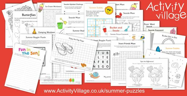 Have you seen our summer puzzles?