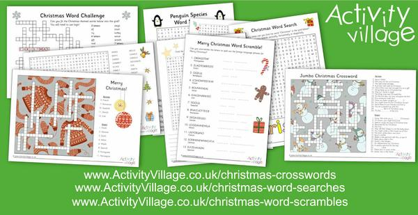 and lots of new Christmas crosswords, word searches and word scrambles