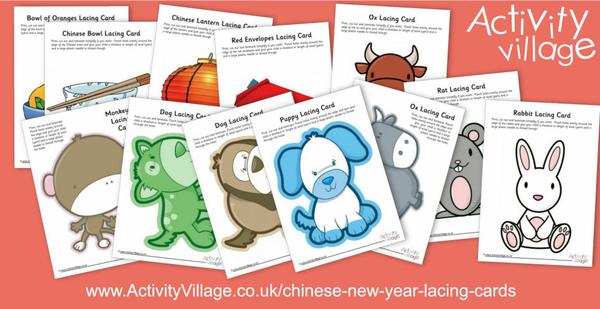 Adding to our Chinese New Year lacing cards collection