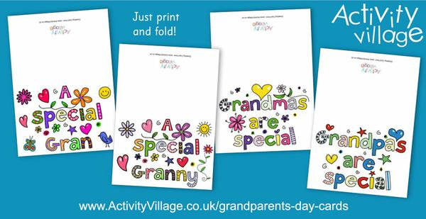 Grandparents' Day is coming up soon. Stay in touch with these lovely cards!