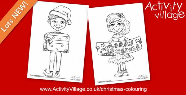 Topping up our enormous collection of Christmas colouring pages!