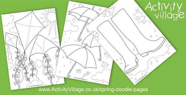 Doodle some designs with our latest spring doodle pages - or just colour them in!