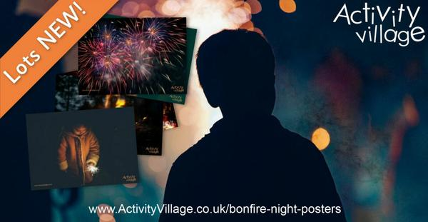 New photographic posters for Bonfire Night displays