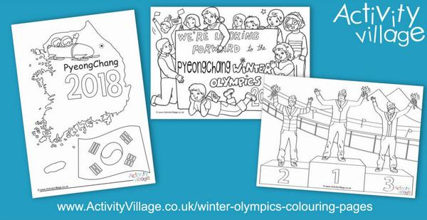 Topping up our Winter Olympics colouring pages!