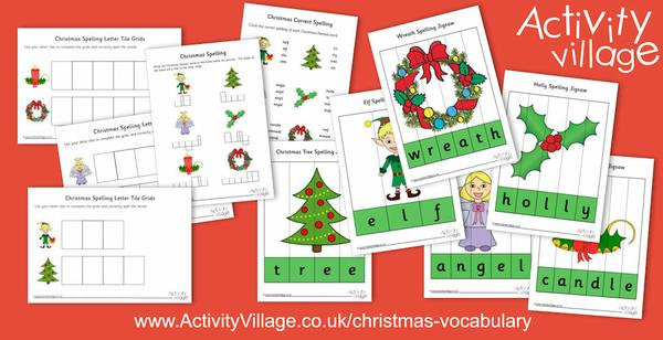 New Christmas spelling jigsaws and worksheets