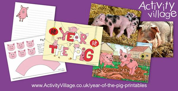More Year of  the Pig printables