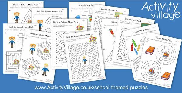 2 new packs of school-themed mazes