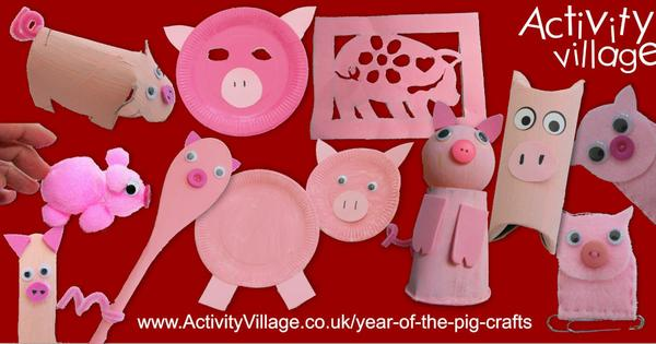 11 brand new pig crafts