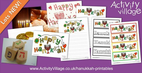 Topping up our collection of Hanukkah printables