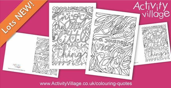 Adding 2 new colouring quote pages and cards to our series. Wise words to colour!