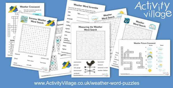 We've added even more weather word puzzles - 3 new word searches this week