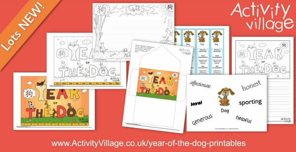 Fun new Year of the Dog printables