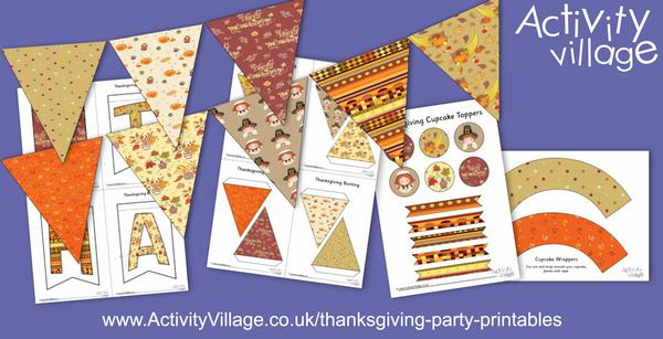 We've added some last minute Thanksgiving party printables