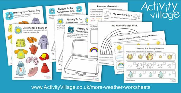 More weather worksheets!
