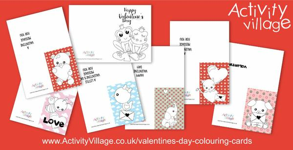 Our latest Valentine's Day colouring cards